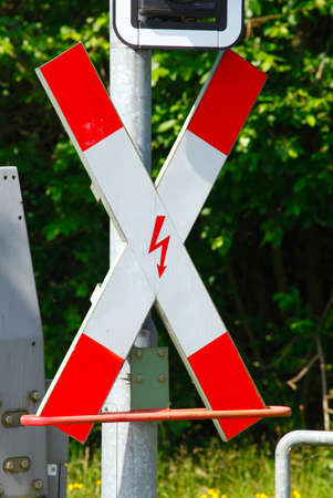 railroad crossing: Sign  Railroad Crossing, Germany, Europe