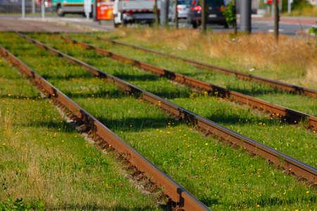 tramway: Tramway Track Stock Photo