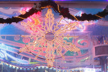 Christmas Decoration Star at dusk