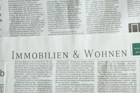immobilien: Newspaper, Text Property (Immobilien in german)