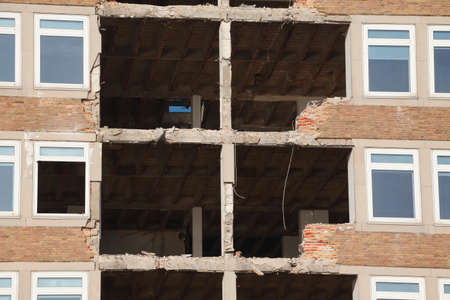 Building Demolition,  Condemned House, Bremen, Germany, Europe Stock Photo