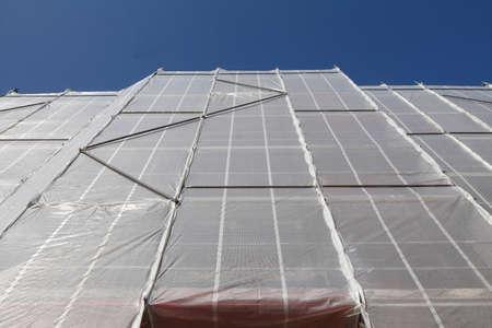 tarpaulin: Cover tarpaulin, Construction Site