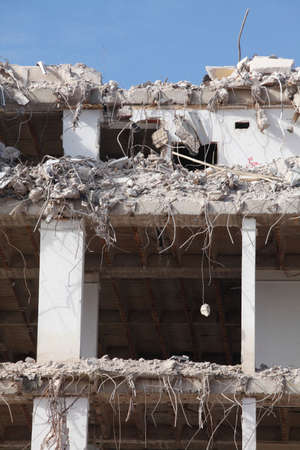 beton: Building Demolition,  Condemned House, Bremen, Germany, Europe Stock Photo