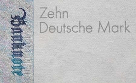 Old Ten Deutschmark Banknote, Bill Banco de Imagens