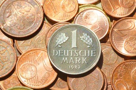 Euro , coins, Money, D-Mark