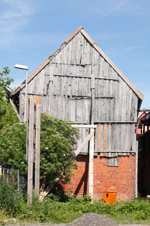 old condemned wooden house