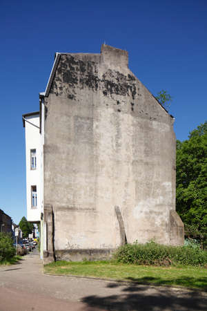 Wall of an old house in Duisburg-Ruhrort, Ruhr-Area
