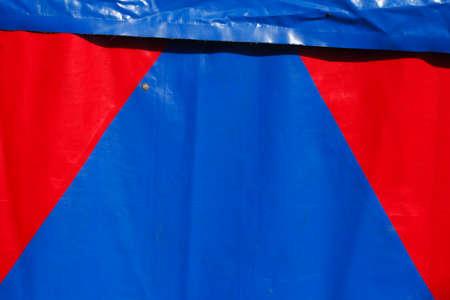 tarpaulin: red-blue tent tarpaulin from a tent