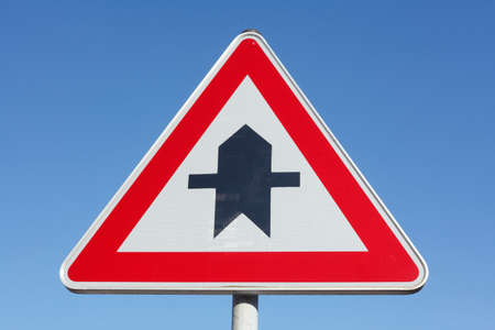 priority: Priority traffic sign, right-off-way Stock Photo