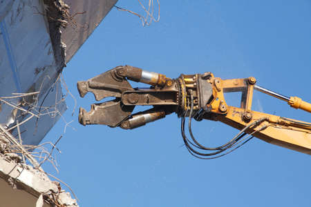 Building Demolition, House and Demolition Excavator