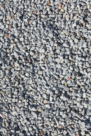grey little grit stones as floor covering