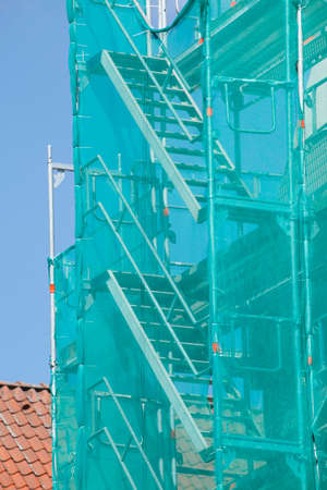 Construction site, scaffold, Ladder Stock Photo