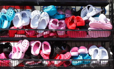 Summer  Shoes at a shoe stand