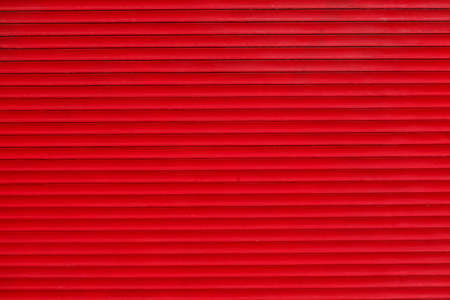 red closed shutter