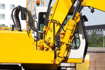 yellow Hydraulic Excavator