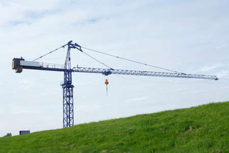 construction crane with a dyke