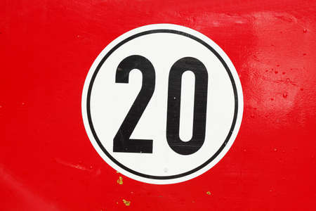 Road  Sign speet Limit 20 Kmh, Germany, Europe