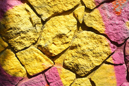 yellow colored brick wall Reklamní fotografie
