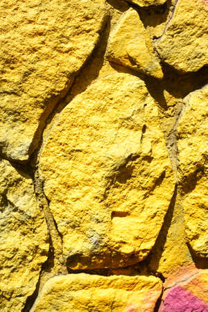 yellow colored brick wall Stock Photo - 89063046