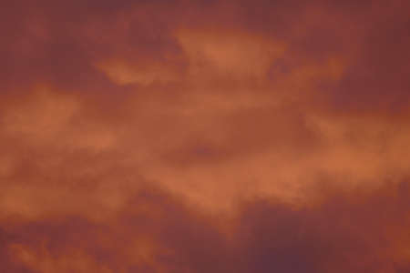 Fire-red lightly clouded sky, sunset, background 版權商用圖片