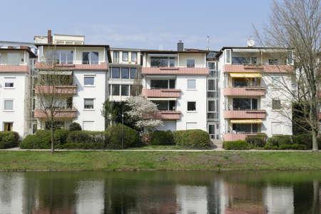 Residential houses, multi-family houses in spring, Bremen Reklamní fotografie