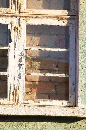 Old wooden window frame, Germany, Europe