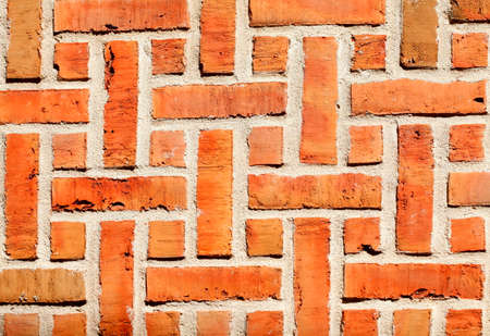 Red old brick wall, old town, Stade, Lower Saxony, Germany