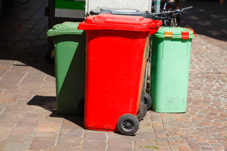 Various colorful recyclables, Germany, Europe
