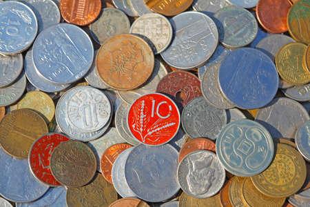 Old coins, various European currencies