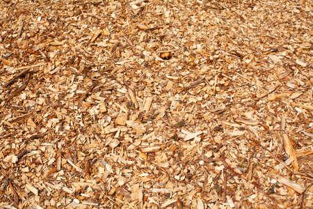 Wood shavings, wood chips, bark mulch, flooring, background image