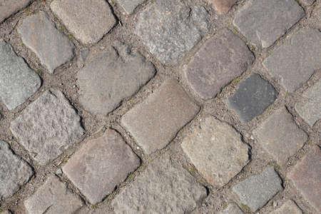 reddish and gray cobblestones