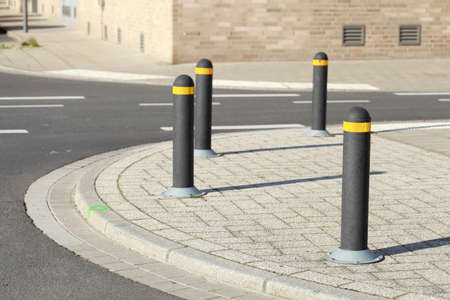 Posts, bollards, street bollards on a footpath, Germany, Europe Banque d'images