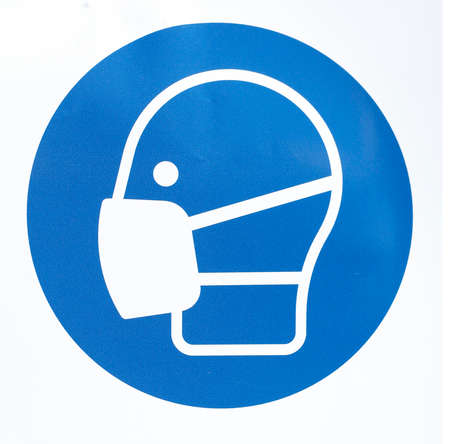 Use mouthguard sign, mask requirement, Germany, Europe Standard-Bild