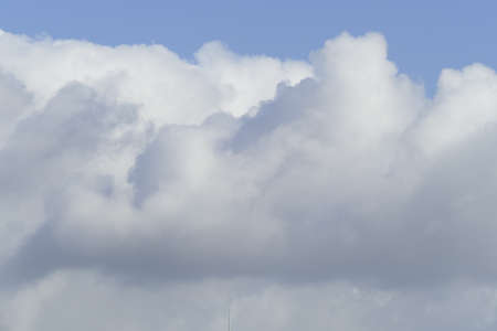 White clouds, blue sky, background image, Germany, Europe