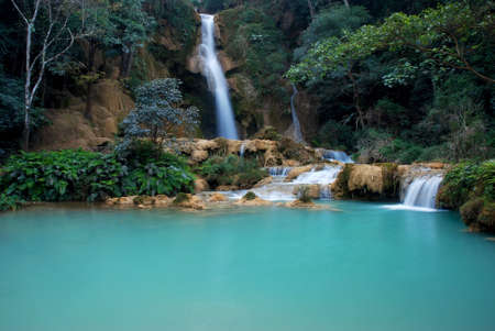 Waterfall in Laos Stock Photo - 15136305