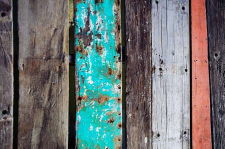 fondo legno: Colorful vecchio muro Archivio Fotografico