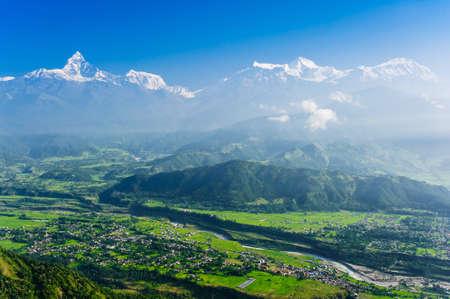 pokhara: Machapuchare, Pokhara, Nepal  Stock Photo