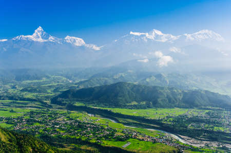 Machapuchare, Pokhara, Nepal  Stock Photo