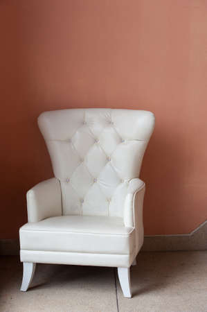 White leather chair Stock Photo - 16276819