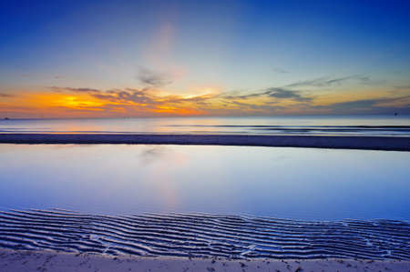 Sunrise at the horizon, Huahin, Thailand  Stock Photo