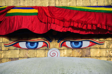 Wisdom eyes, Bodhnath, Nepal  Stock Photo