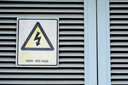 High voltage warning  photo