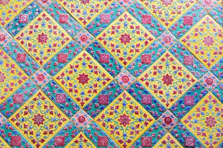 Thai pattern wall photo