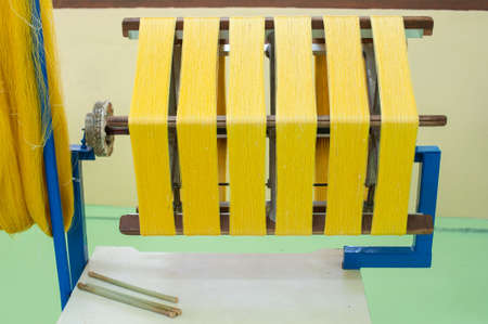 Silk weaving machine photo