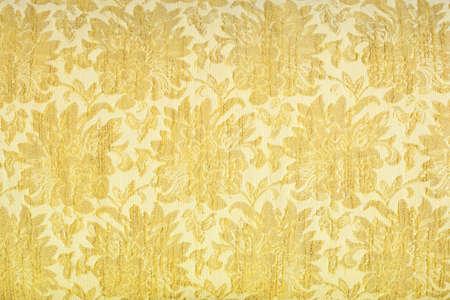 Luxury yellow fabric texture photo