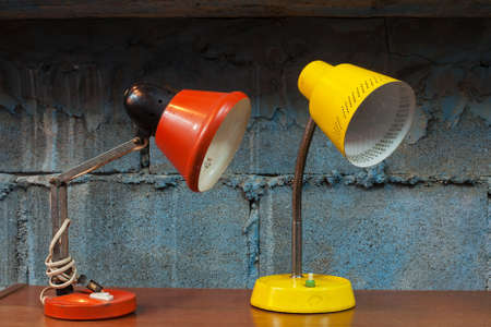 Red and yellow desk lamp in the room Stock Photo - 17572900