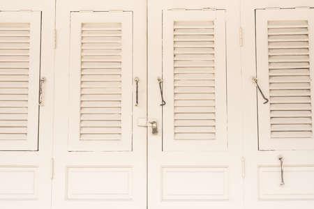 Vintage white windows photo