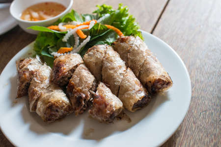 Fried spring roll in Vietnamese style photo