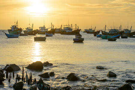 Fishing village in Mui Ne, Vietnam Stock Photo