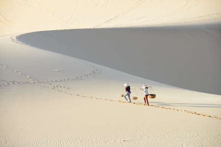 White sand dune in Mui Ne, Vietnam Stock Photo